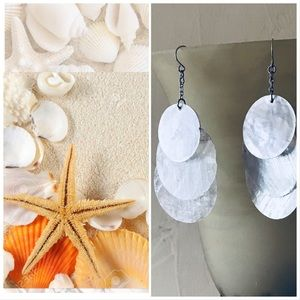 Beautiful White Shell Style Dangle Earrings